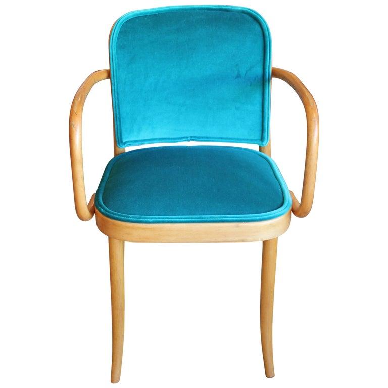 Modern Josef Hoffmann Thonet No 811 Turquoise Velvet