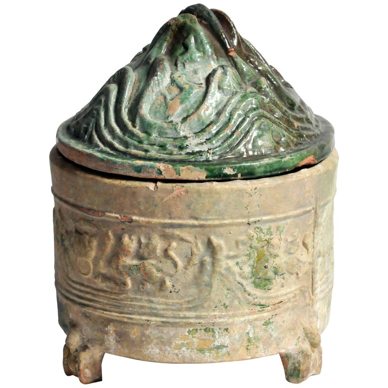 Han Dynasty Green Glazed Hill Jar