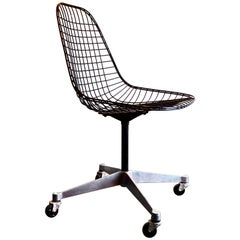 Early Charles Eames PKC Wire Rolling Task Chair Herman Miller