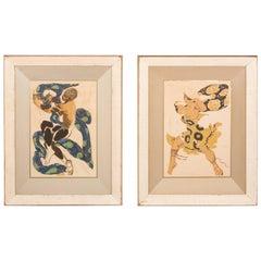 Pair of Silk Screens by Influential Leonard Pytlak