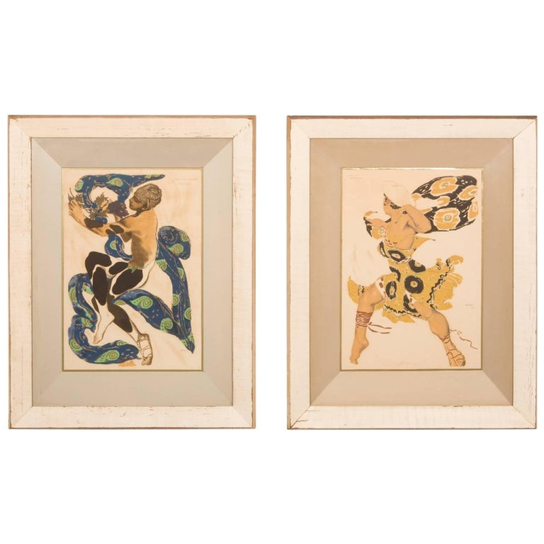 Pair of Silk Screens by Influential Leonard Pytlak For Sale