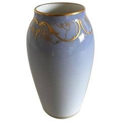 Royal Copenhagen Art Nouveau Vase with Gold #144/1212/88A
