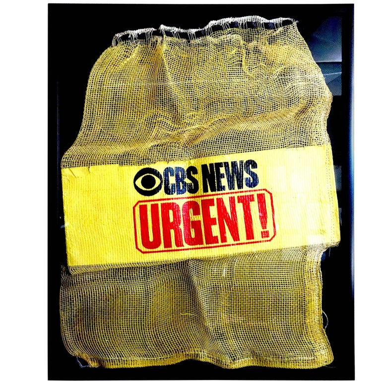 CBS News News Film Courier Transport Pouch Circa Mid-20th Century, Bold