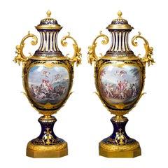 Sèvres Palace Porcelain Urns