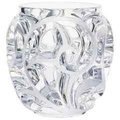 Lalique Tourbillons Grand Vase Clear Crystal