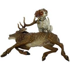 Bergman Foundry, Bronze Sculpture/Figurine of Hunting Scene, Austria, circa 1910