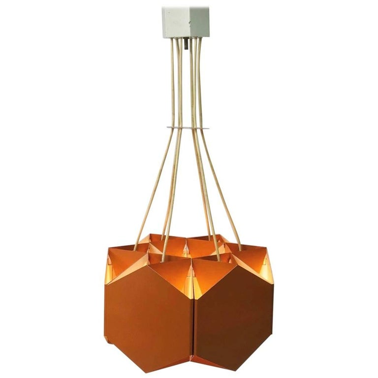 Very Unique Chandelier by Ole Panton for Lyfa of Denmark, Mid-1960s For Sale