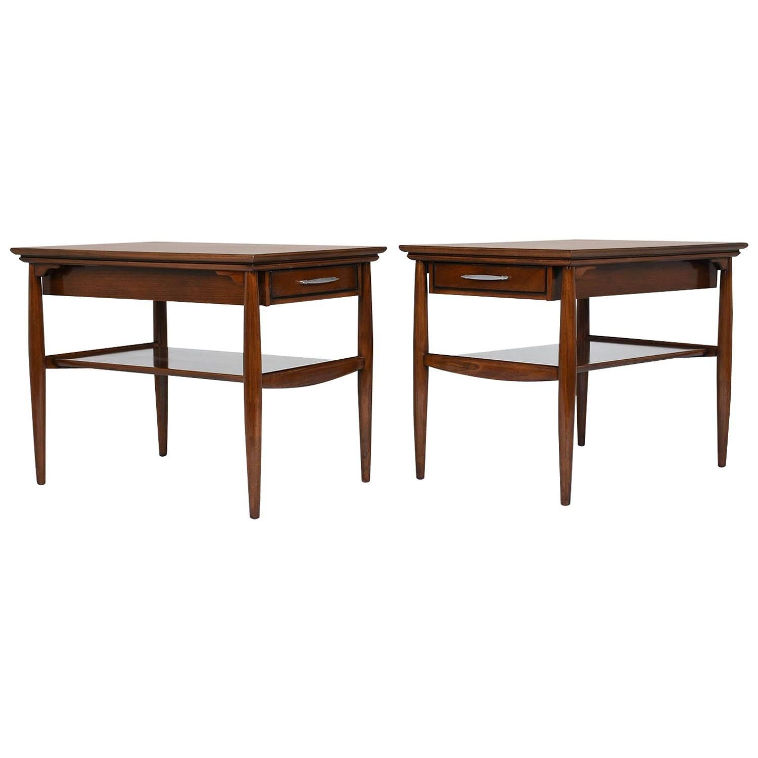 Mid-Century Pair of Biomorphic Monkey Pod Hawaiian Side Tables For ...