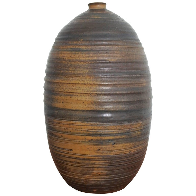 Mid Century Large Studio Pottery Vase, USA 1960s