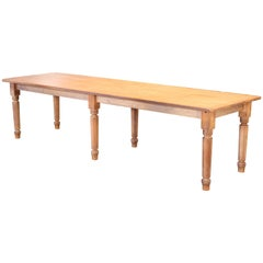 Vintage Refectory Farm Dining Table, Pine and Tulip Wood