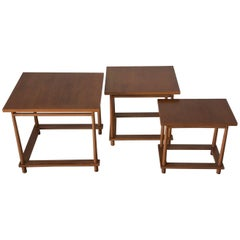 T.H. Robsjohn-Gibbings Midcentury Set of Nesting Tables by Widdicomb, USA, 1950s