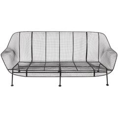 Russell Woodard Three-Seat Black Sculptura Sofa