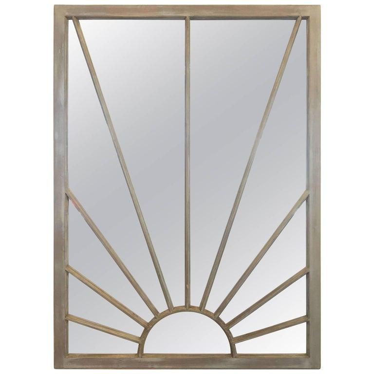 English Rectangular Grey Frame Mirrors (H 48 3/4 x W 35 3/4) For Sale