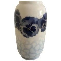 Royal Copenhagen Vase #285/107 with Violet Tricolor Flower Motif