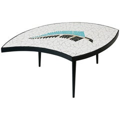 Boomerang Mid-Century Modern Tile Top Coffee Table, circa 1960