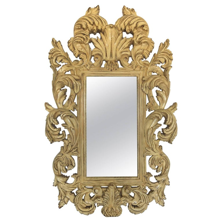 French provincial rococo style wall mirror for sale at 1stdibs for French rococo style