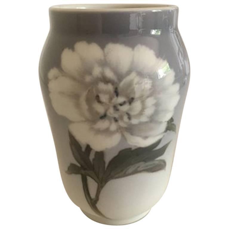 Royal Copenhagen Vase #92/108 Motif with White Peony