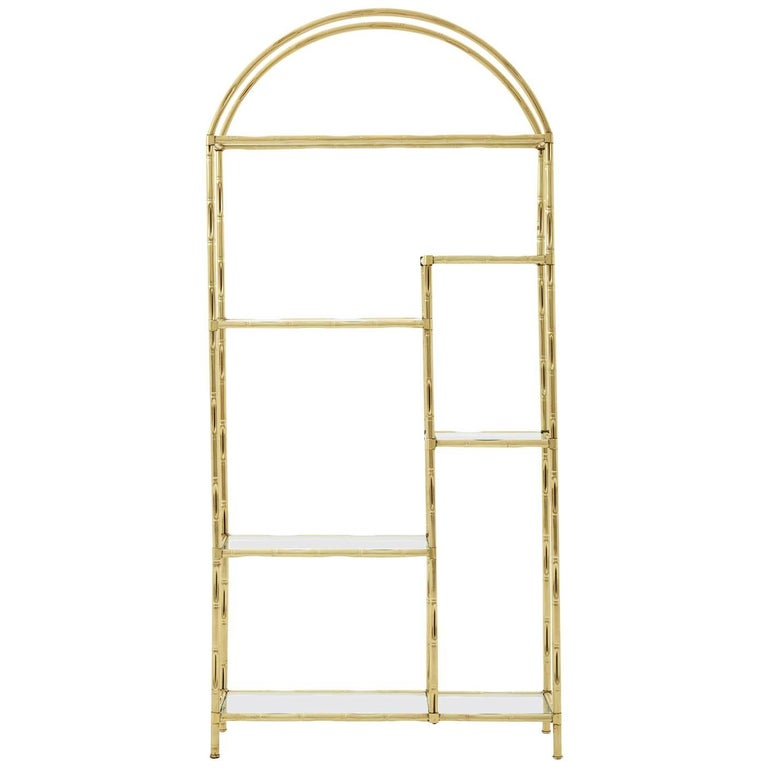 Faux Bamboo Etagere