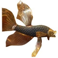 Italian Brass Fish Sculpture