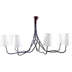 Extra Large Seven-Light Hand-Wrought Iron Chandelier