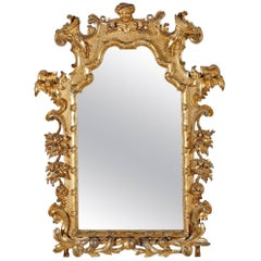 Fine & Rare Mid 18th Century Gilt wood Mirror