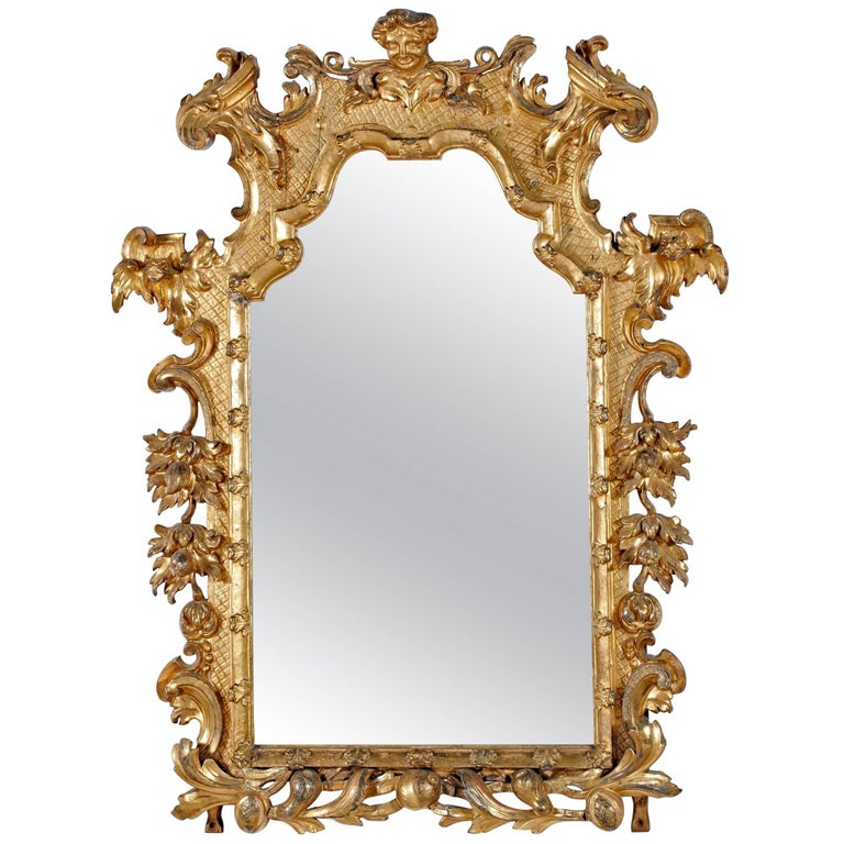 Fine Italian Giltwood Mirror For Sale