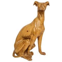 A Carved Wooden Dog