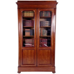 19th Century French Mahogany Library Flat Pack Bookcase