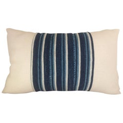 Handwoven African Textile from Mali Pillow #8