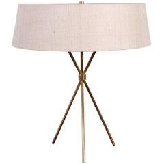 Brass Tripod Table Lamp by T.H. Robsjohn-Gibbings