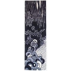 Angela Adams Sea Cave, Black Rug, 100% New Zealand Wool, Hand-Knotted, Modern