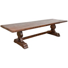 19th Century French Monastery Trestle Table from Normandy