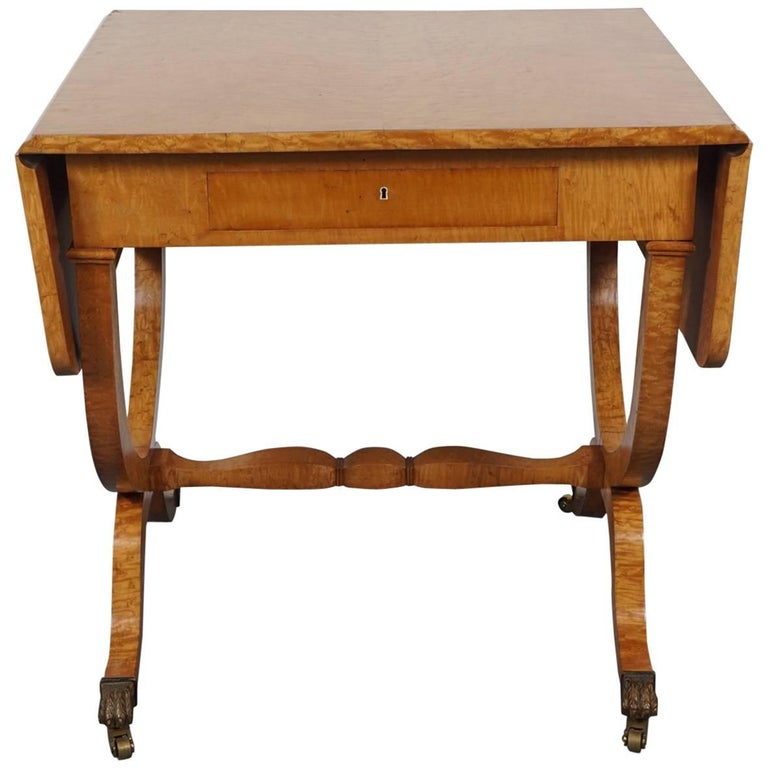 Biedermeier Drop Leaf Table For Sale