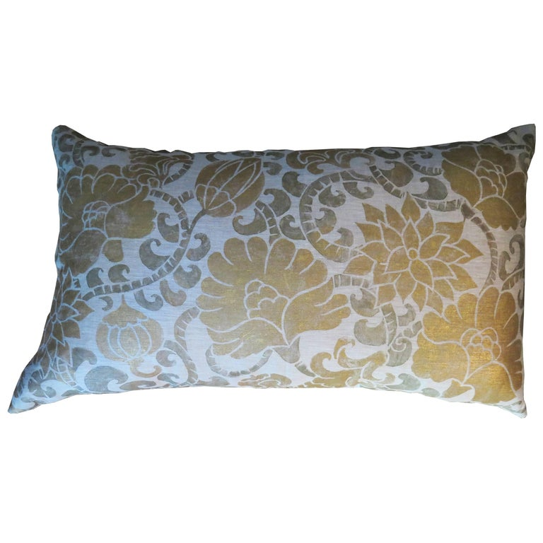 Venetian Linen Pillow For Sale