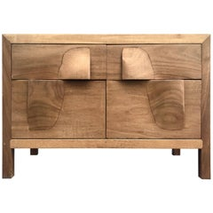 Sculptural 1960s American Studio Teak Chest of Drawers