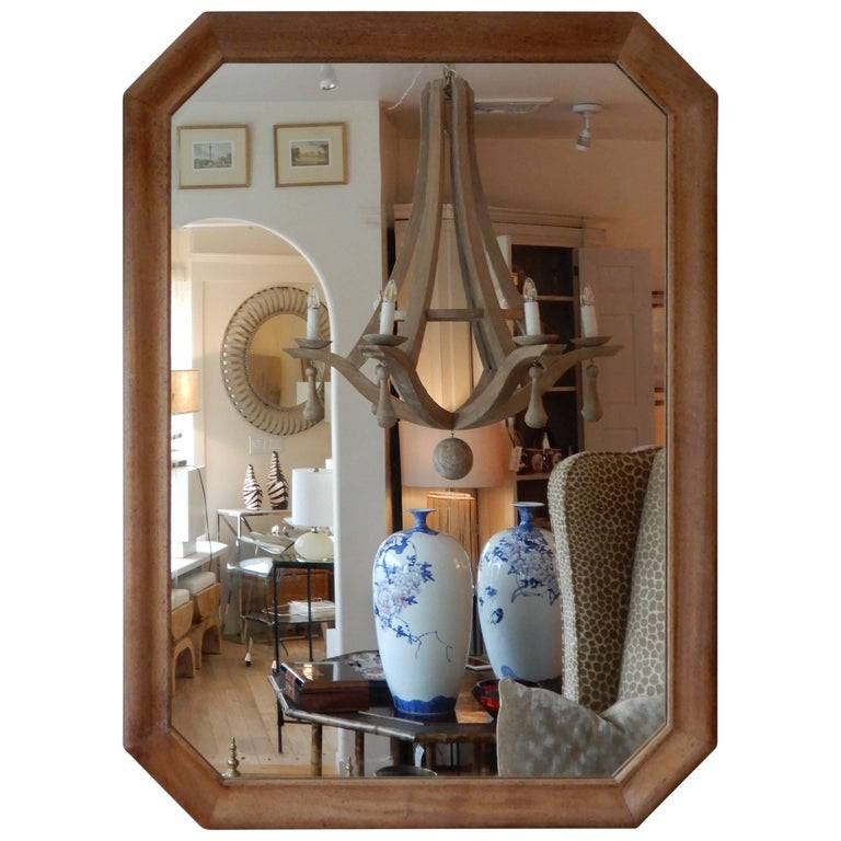 Late  1920s  American Oak Wood Wall/Floor  Mirror