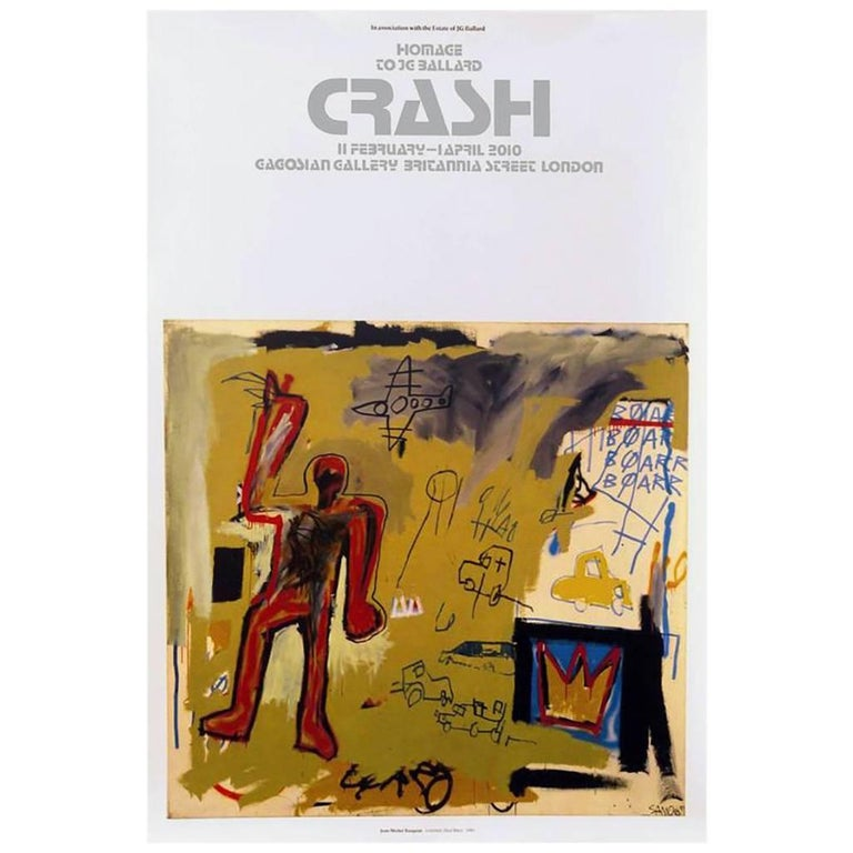 Jean Michel Basquiat Gagosian Gallery Crash Exhibition Poster At 1stdibs