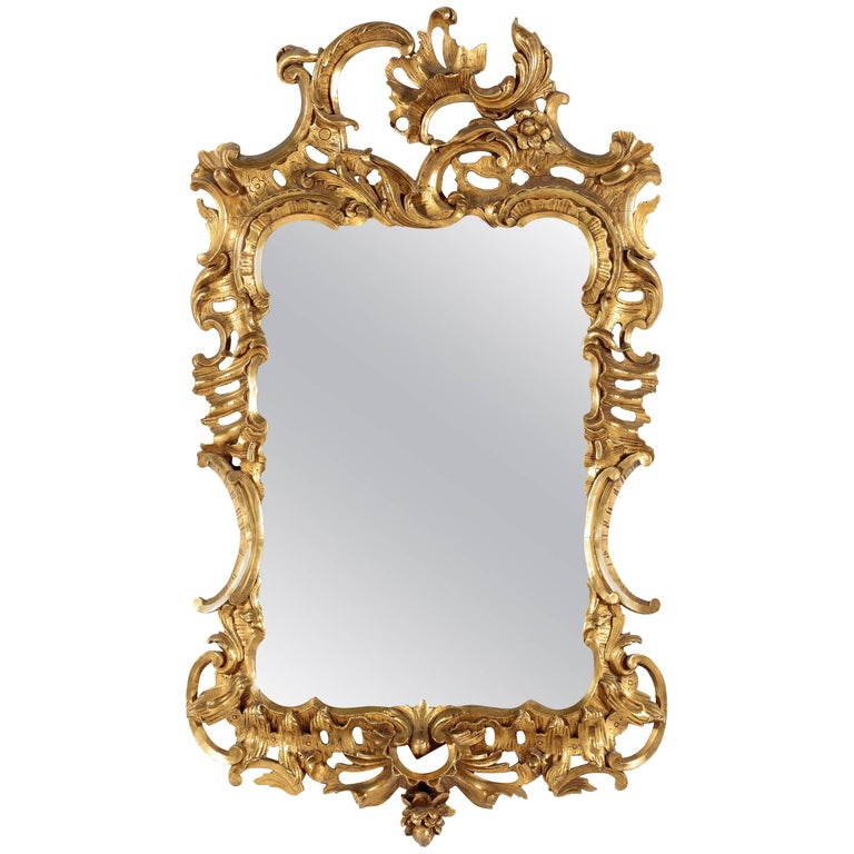 Fine George II Giltwood Mirror For Sale