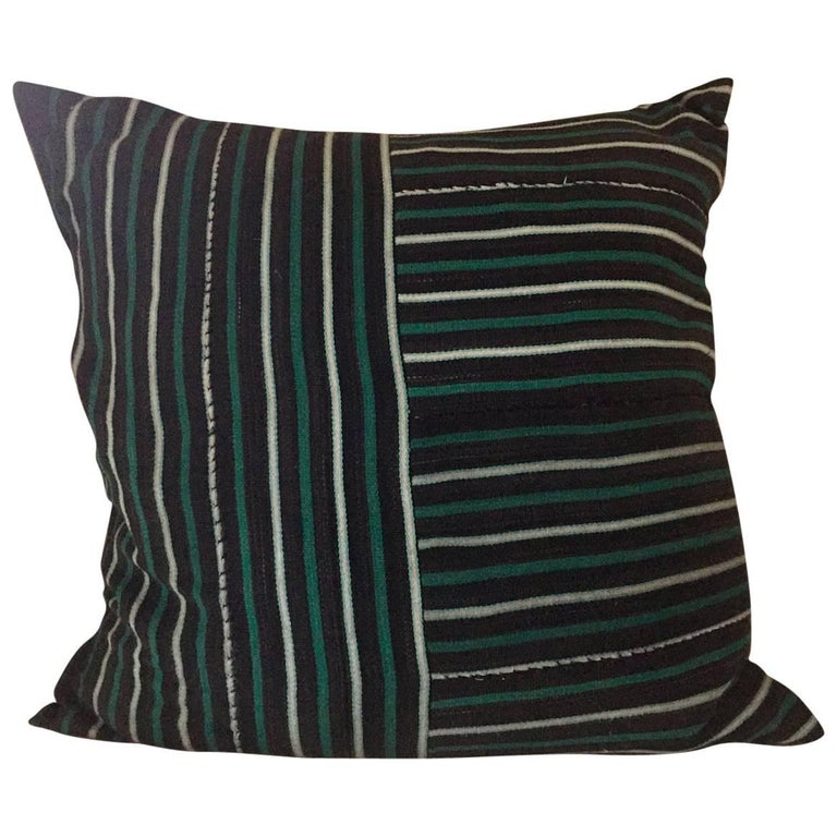 Handwoven African Textile from Mali Pillow #14