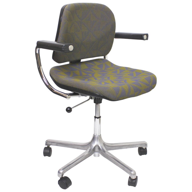 Vintage Mid-Century Modern Euro-Chair Desk Chair by Fritz Makiol for Girsberger For Sale