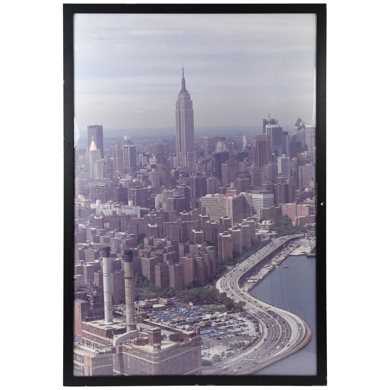 Large 1980s New York City Skyline Photo