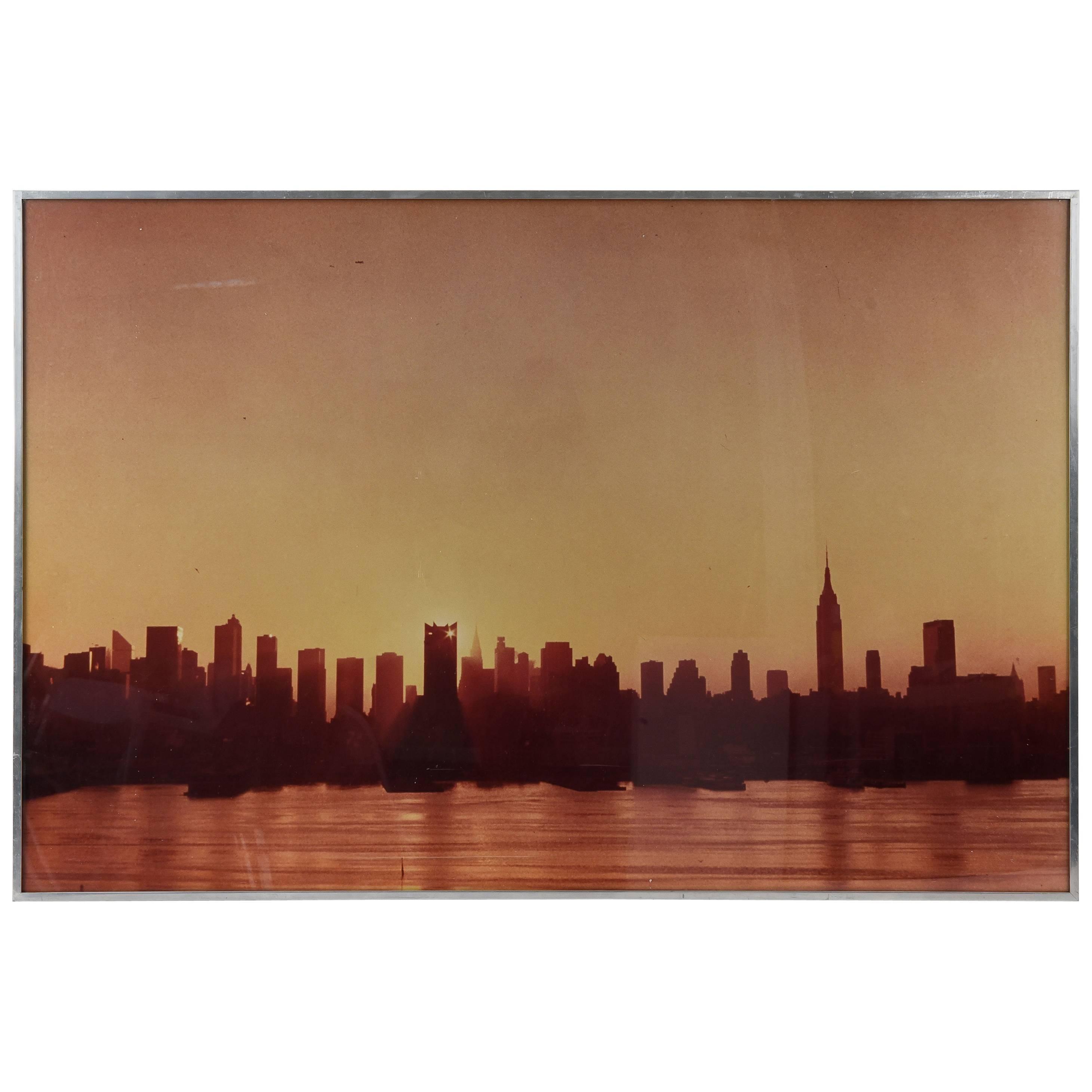 New York City Sunset or Sunrise Skyline Portrait