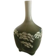 Royal Copenhagen Art Nouveau Vessel Vase No. 439/135 with Angelica Sylvestris