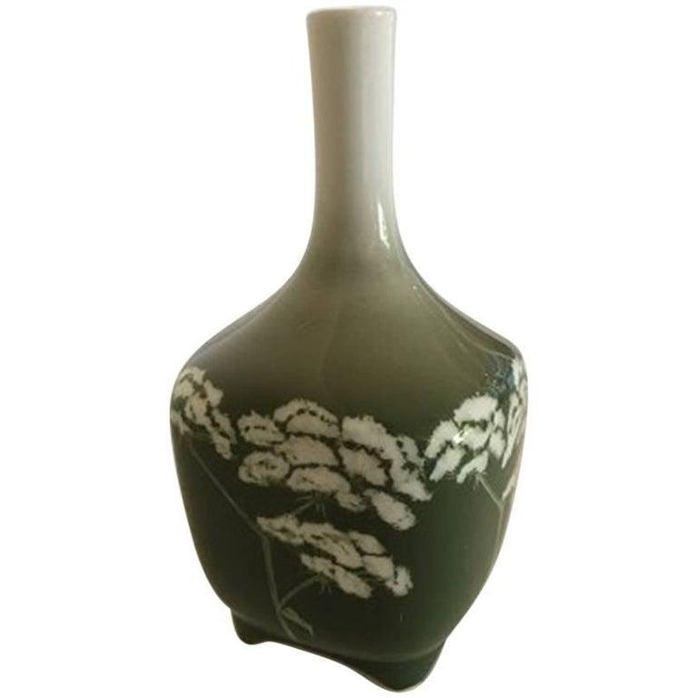 Royal Copenhagen Art Nouveau Vessel Vase No 439135 With Angelica