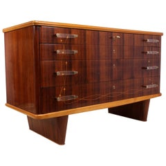 Italian Rosewood Commode by Dassi
