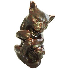 Bing & Grondahl Jean Rene Gauguin Figurine of a Cat #93 or 4375
