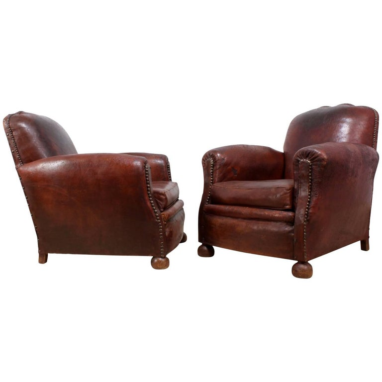 leather club chair for sale pair of leather club chairs circa 1940 for at 8933