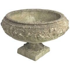 Large English Garden Stone Urn or Planter