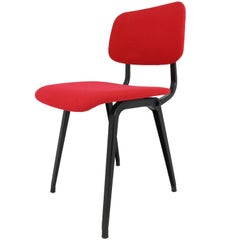 Nine Revolt Armhairs by Friso Kramer for Ahrend Cirkel Upholstered in Red