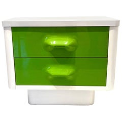 Single Space Age Broyhill Lemon Nightstand Chapter One Line